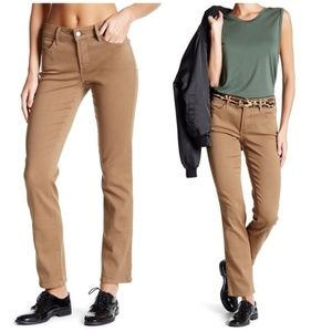 NYDJ Stretch Tan Slim Straight Legging Jean